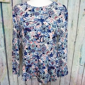 CHARTER CLUB Pima Cotton Top Floral Butterfly